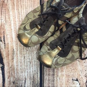 {Coach} brown tennis shoes